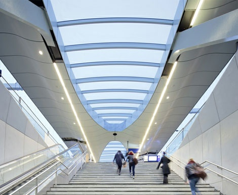 Arnhem central platform roofs