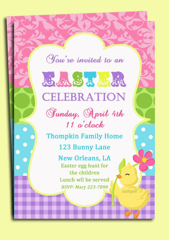 Easter invitation rhymes cogimbo easter invitation wording 9 kids party wording ideas polka dot design stopboris Image collections