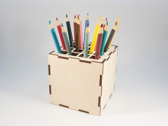 Desk Tidy  pen/ pencil holder by BeamDesigns on Etsy