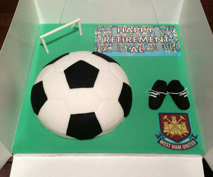 A retirement cake for a very active man.