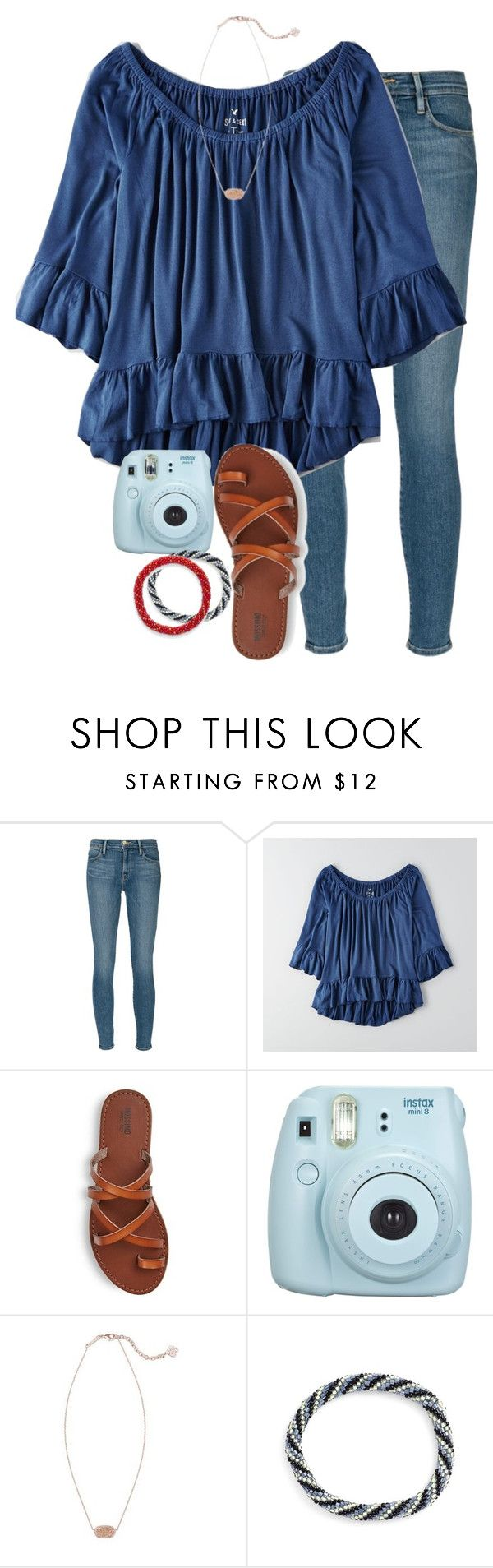 """""""getting this shirt for my bday!!"""" by elizabethannee ❤ liked on Polyvore featuring Frame Denim, American Eagle Outfitters, Kendra Scott and Aid Through Trade"""