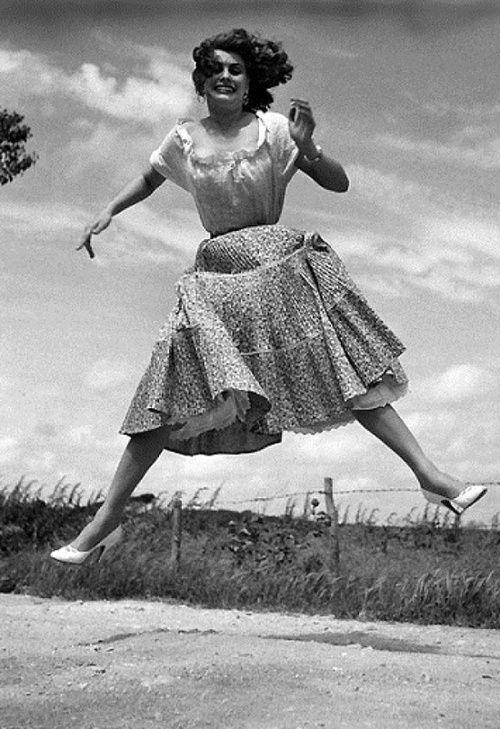 Sophia Loren photographed by Philippe Halsman, 1959.