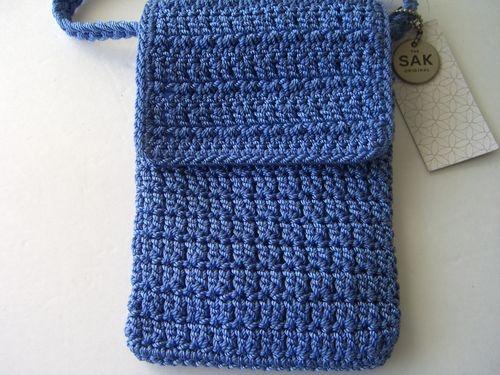 NEW/WT ~THE SAK Small CROCHET PURSE or Cross Body Bag~Classic Flap~