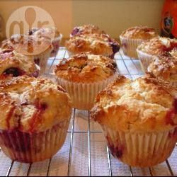Coconut and raspberry muffins...these are yummy! I always substitute coconut oil and leave off the icing sugar and they are fab!