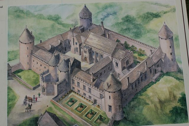 Farleigh Hungerford Castle by Rachel Cotterill, via Flickr An artist's impression of how it would have looked before it was ruined:
