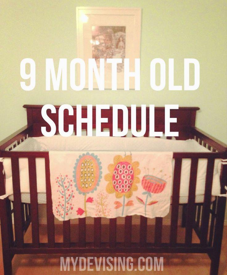 My Devising: 9 month old schedule