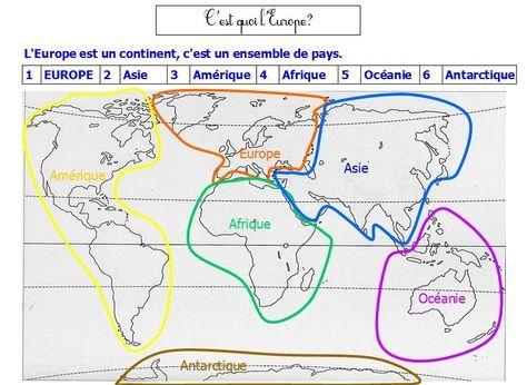 Les continents cycle 2 cycle 3 | BLOG GS CP CE1 CE2 de Monsieur Mathieu JEUX et RESSOURCES