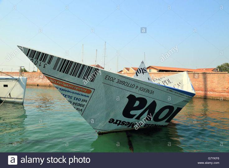 Venice Biennale - Paper boat Knjaz' Potëmkin Tavriceskij La corazzata Potëmkin (battleship Potemkin) by Marco Tracanelli - G7YKF6 from Alamy's library of millions of high resolution stock photos, illustrations and vectors.