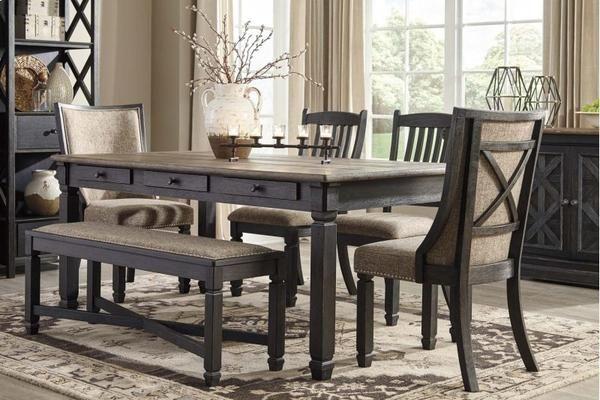 6 Pc. Dinette Set Dining Chair Set, Dining Room Furniture, Upholstered  Dining