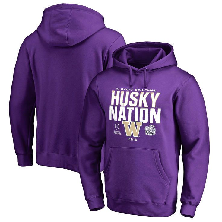 Washington Huskies Fanatics Branded College Football Playoff 2016 Peach Bowl Bound Nation Pullover Hoodie - Purple - $54.99