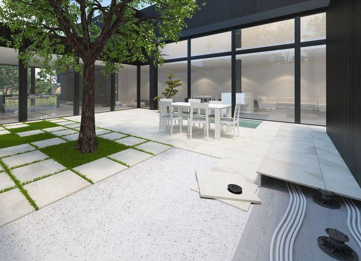 Outdoor flooring; Due by Del Conca