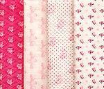 Набор тканей для пэчворка Ангелочки розовые Art-12