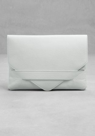 & OTHER STORIES, white leather clutch - so simple, but a great statement in white.