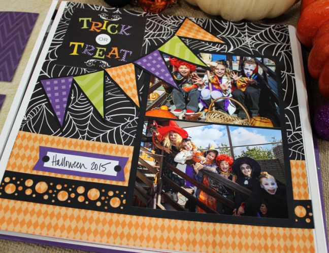 Creative Memories Halloween Page Layout #Scrapbooking #CreativeMemories #Halloween