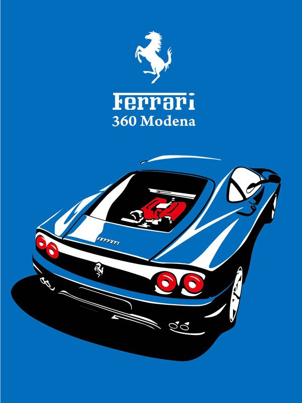 Ferrari 360 Modena silk screen print                              …