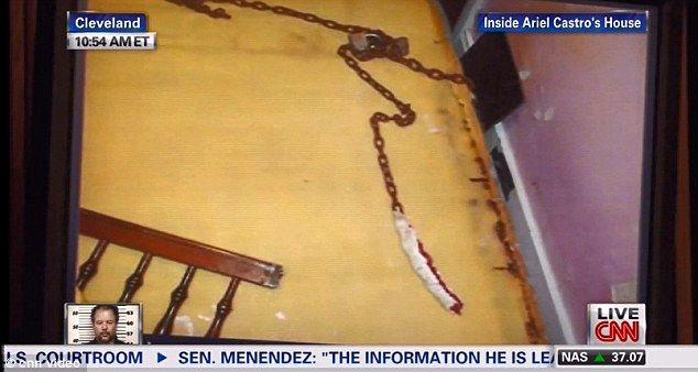 Inside Ariel Castro's house: First pictures from Cleveland house of horrors revealed in court