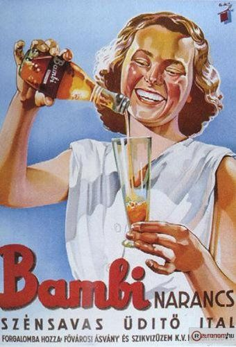 Bambi plakát - 1950- it was great tasting but contained something dangerous and had to stop the production
