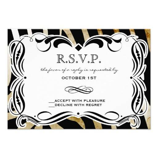 Best zebra print rsvp images on pinterest