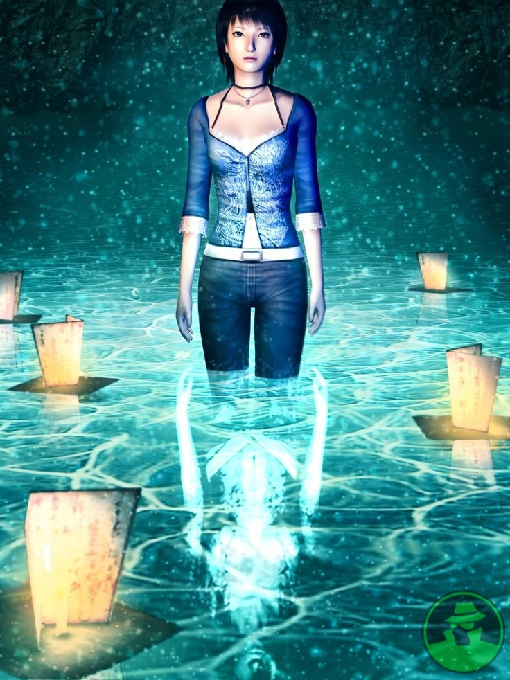 Reika in the water - Fatal Frame 3