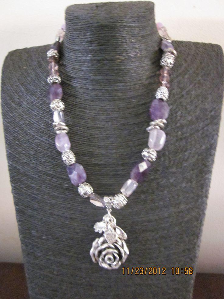 Semi precious amethyst necklace