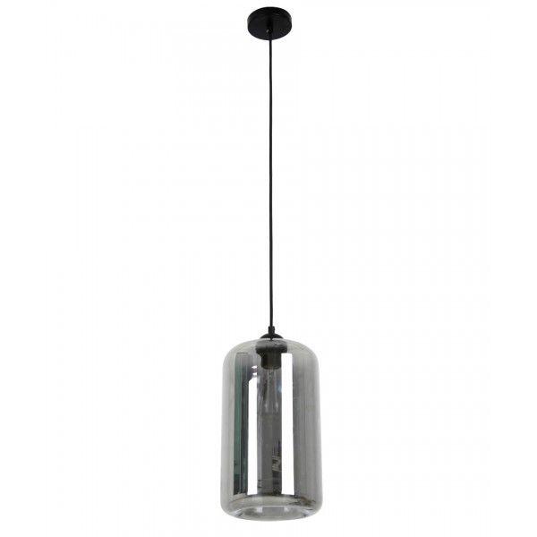 Jensen 1 Light Cylinder Pendant in Dark Bronze/Smoke | Pendant Lights | Lighting from Beacon