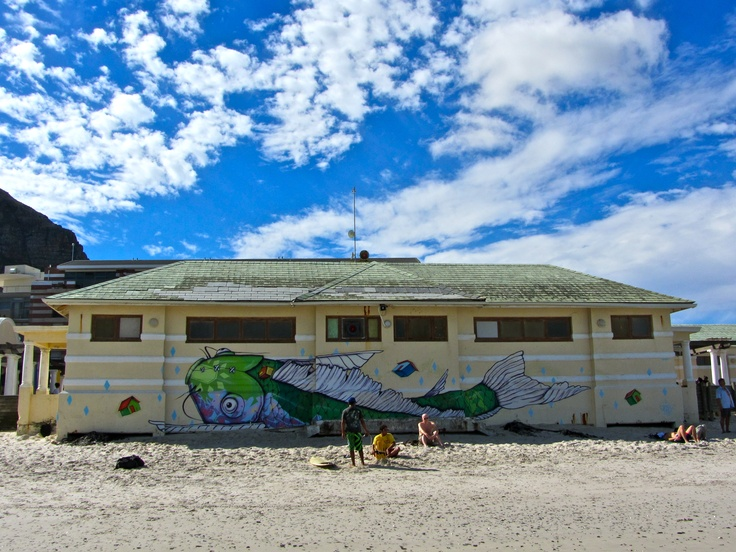 Street art. Muizenberg Beach, Cape Town, South Africa.
