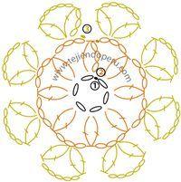 cómo tejer una pastilla o motivo circular a crochet