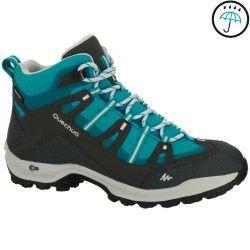 Bergsport_WanderschuheDamen Bergsport (QUECHUA) - Wanderschuhe Arpenaz 100 Mid Novadry Damen grau/blau QUECHUA - Wandern Damen