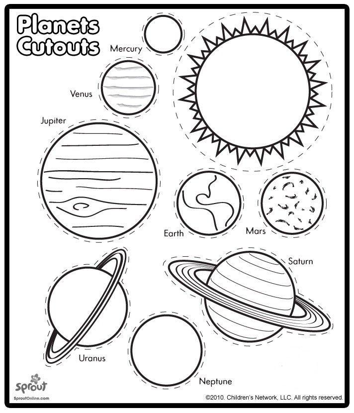 planete de colorat