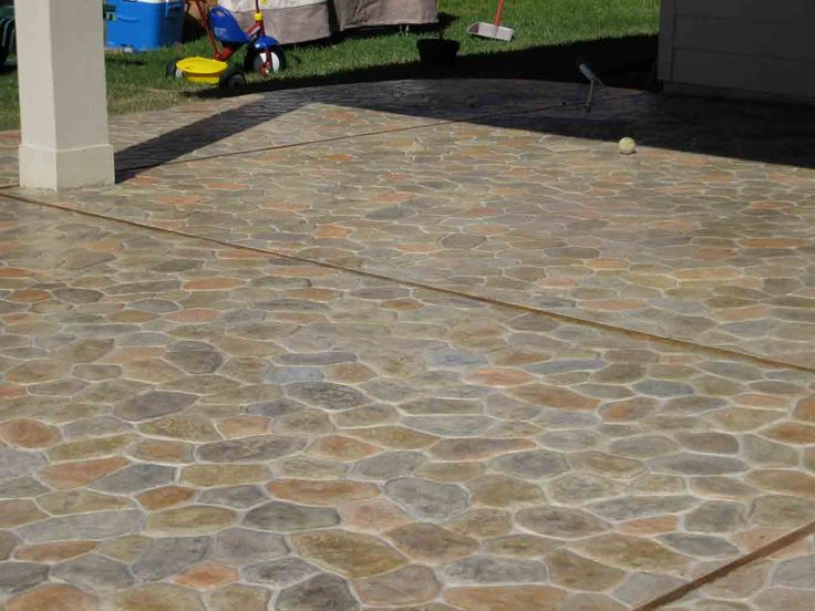 River Rock Stamped Concrete Pattern Stamped Concrete
