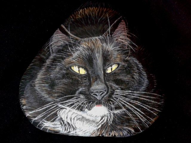 Custom Pet Portraits / Hand Painted Cat on by MeloArtGallery
