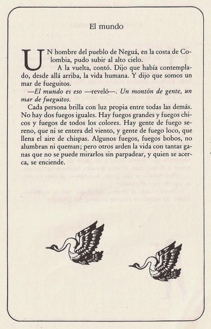 Eduardo Galeano y su visión del mundo. Somos un mar de fueguitos.