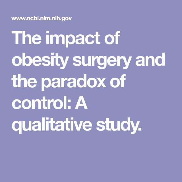 The impact of obesity surgery and the paradox of control: A qualitative study.