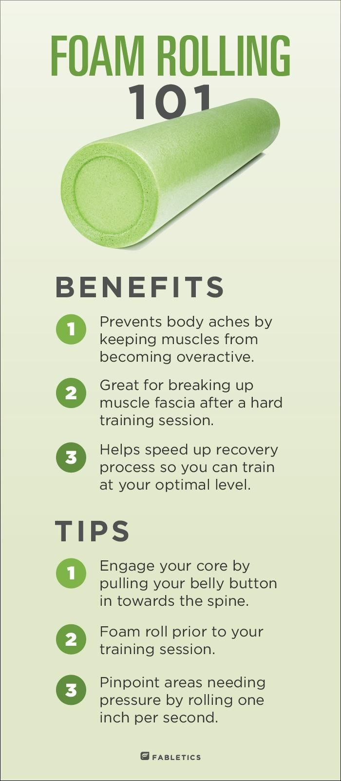 Here's the benefits and some great tips for foam rolling!