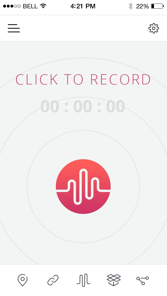 Have a look at the new Lumemo voice recorder interface.