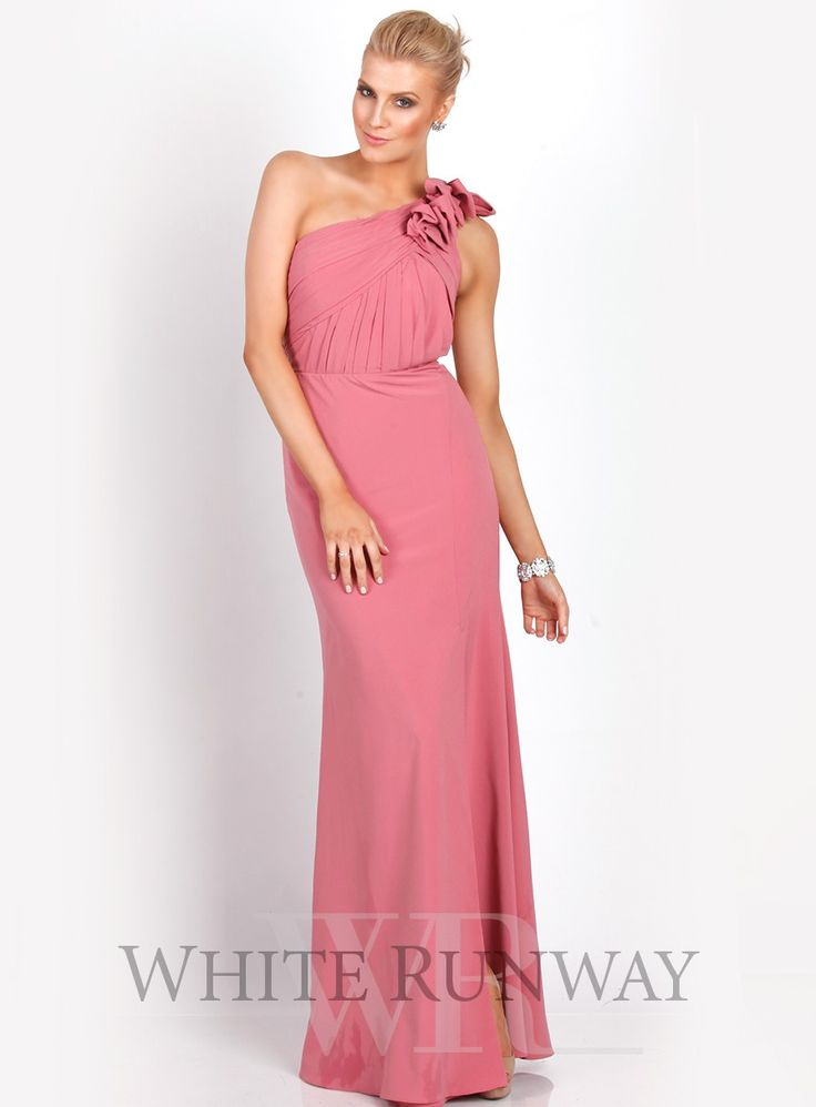 Kamilla one shoulder dress stunning full length dress by for Mid length wedding dress