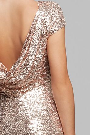 Badgley Mischka Blush Sequin Gown If the girls all love it.