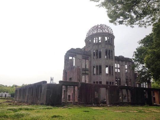 Domo #hiroshima  #japan #travel #backpaker (en Atomic Bomb Dome - Hiroshima, Japan)