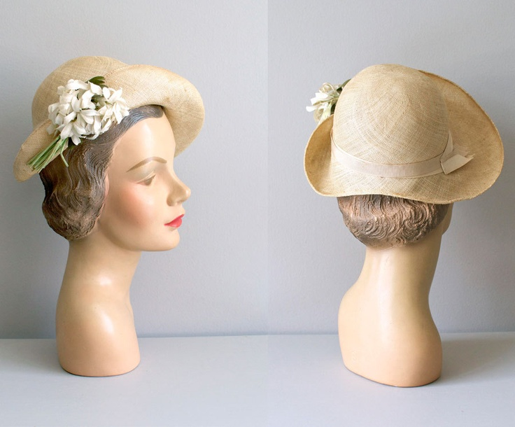 1930s hat / straw cloche 30s hat / Daisy Cloche | HATS! I ...