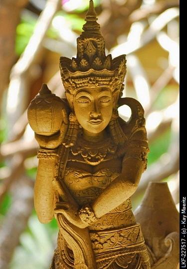 Balinese statues at the garden of the Matahari Hotel, Pemuteran, Bali, Indonesia, Asia
