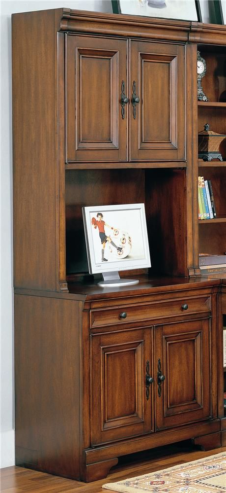 Aspenhome Warm Cherry Executive Modular Home Office: 17 Best Images About Small Computer/printer Cabinet On