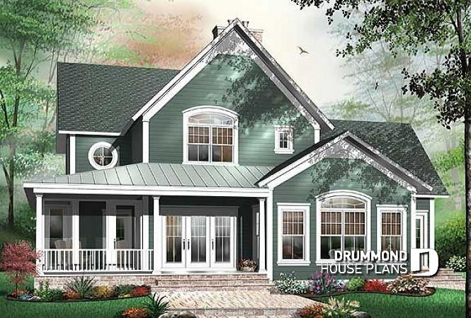 Discover The Plan 3926 Midwest Which Will Please You For Its 4 Bedrooms And For Its Country Styles Country Style House Plans Drummond House Plans Florida House Plans