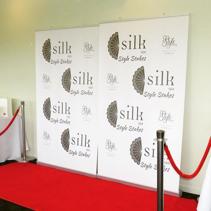 The backdrop for the @silkspa Style Stakes. Were proud to be associate sponsors. #stylestakes