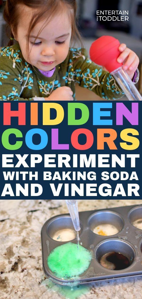 Hidden Colors A Baking Soda Vinegar Experiment 2020 Entertain Your Toddler Color Activities For Toddlers Indoor Activities For Toddlers Colors For Toddlers