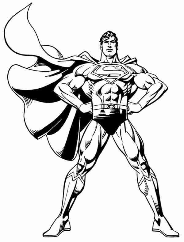 coloring pages superman coloring pages