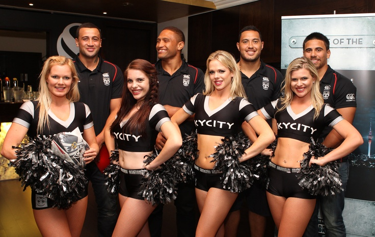 @ The Nation's Clubrooms - SKYCITY Cheer Girls with the Vodafone Warriors