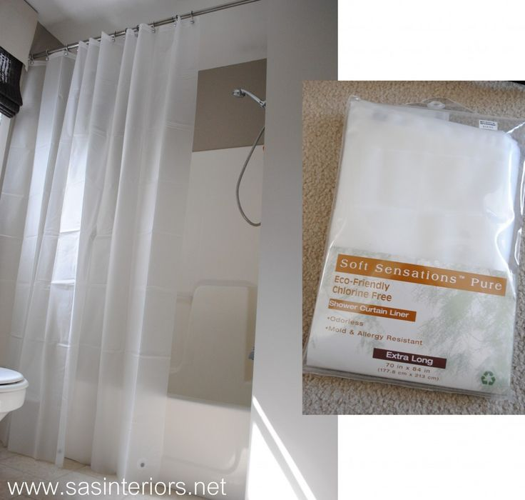 How To Make Any Curtain into a Shower Curtain - SAS Interiors