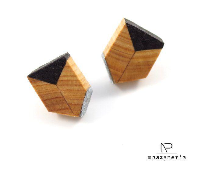 Wood Kolczyki Etno (proj. Maszyneria), do kupienia w DecoBazaar.com