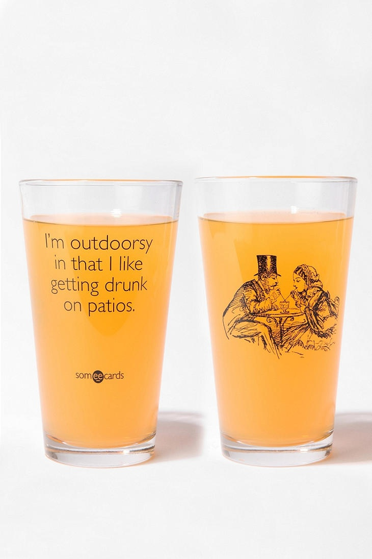 Glass: Urban Outfitters, Gifts Ideas, Get Drunk, Pints Glasses, Outdoor Events, Summer Night, Porches Swings, Christmas Gifts, I M Outdoorsy
