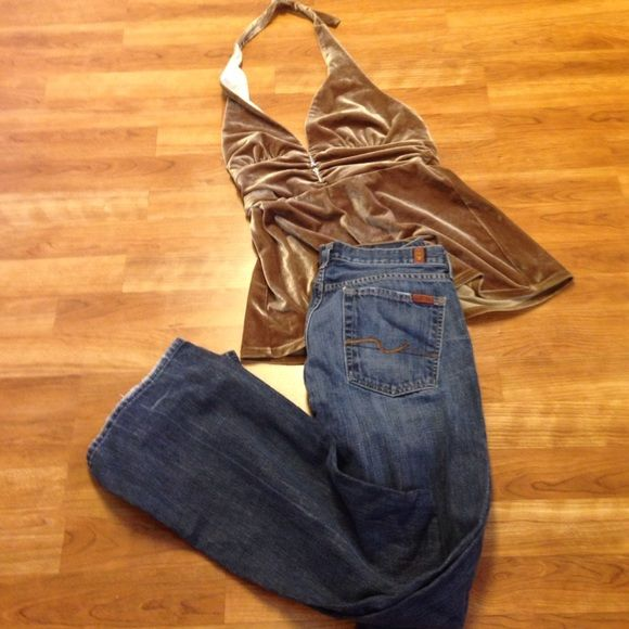 🍀Seven jeans Cute jeans USA made like new vintage jeans. Runs small says 32in I would say 28 or 29 in Seven 7 For all man kind Jeans